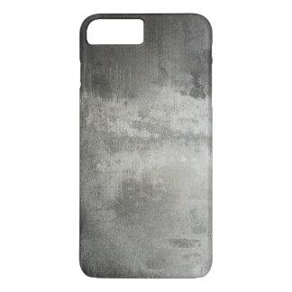 Coque iPhone 8 Plus/7 Plus texturisé noir et blanc grunge abstrait d'art