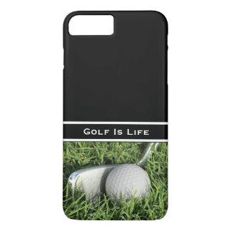 Coque iPhone 8 Plus/7 Plus Thème de golf d'affaires