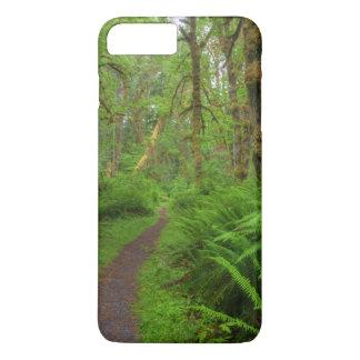 Coque iPhone 8 Plus/7 Plus Traînée, fougères et mousse de clairière d'érable