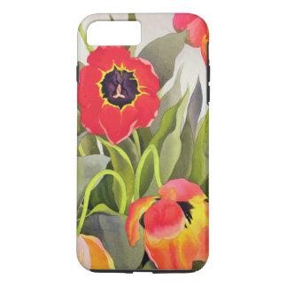 Coque iPhone 8 Plus/7 Plus Tulipes oranges et rouges