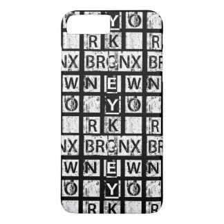 Coque iPhone 8 Plus/7 Plus Typographie grunge de Bronx New York |