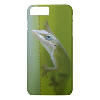 Coque iPhone 8 Plus/7 Plus Un anole vert est un lézard arborescent