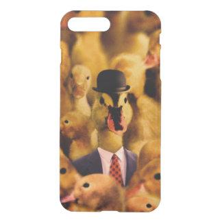 Coque iPhone 8 Plus/7 Plus Un canard dans un casquette de lanceur et un