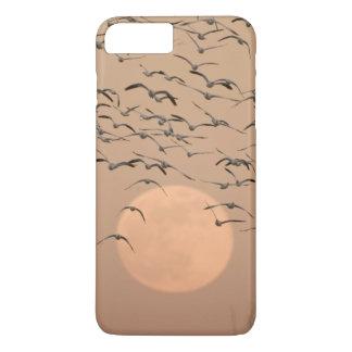 Coque iPhone 8 Plus/7 Plus Un groupe d'oies de neige migratrices