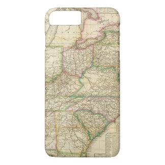 Coque iPhone 8 Plus/7 Plus Une carte des routes, des canaux et du bateau de