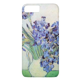 Coque iPhone 8 Plus/7 Plus Vase à Van Gogh avec des iris, beaux-arts floraux
