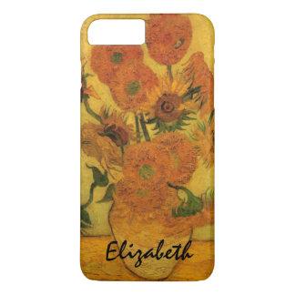 Coque iPhone 8 Plus/7 Plus Vase à Van Gogh avec des tournesols, fleurs de