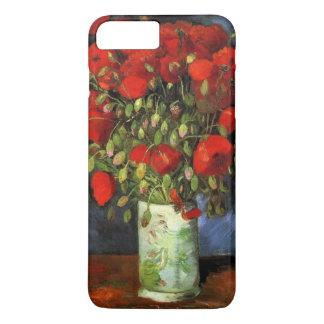 Coque iPhone 8 Plus/7 Plus Vase à Van Gogh avec les pavots rouges, beaux-arts