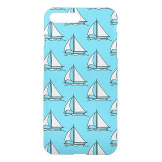 Coque iPhone 8 Plus/7 Plus Voiliers sur le motif bleu de mer