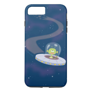 Coque iPhone 8 Plus/7 Plus Vol d'UFO par l'espace