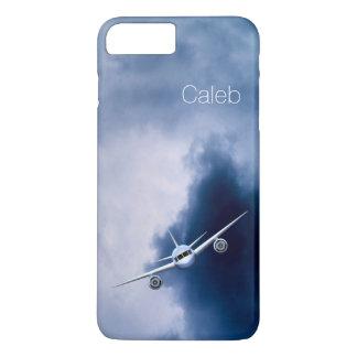 Coque iPhone 8 Plus/7 Plus Vol frais d'avion à réaction dans le pilote mince