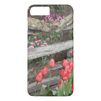 Coque iPhone 8 Plus/7 Plus WA, vallée de Skagit, jardin de tulipe de
