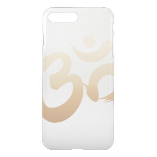 Coque iPhone 8 Plus/7 Plus Yoga élégant de symbole de l'OM d'or