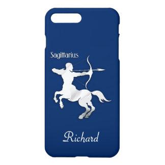 Coque iPhone 8 Plus/7 Plus Zodiaque de Sagittaire de bleu marine