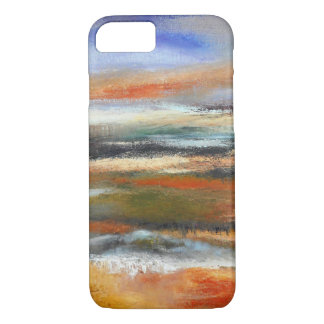 Coque iphone abstrait de couches de la terre