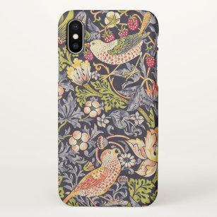 Coque iPhone X Art floral Nouveau de voleur de fraise de William