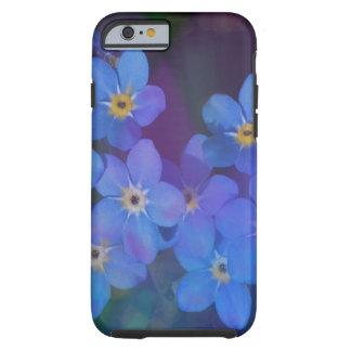 Coque iphone assez bleu de fleurs coque tough iPhone 6