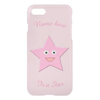 Coque iphone assez rose de coutume d'étoile
