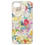 Coque iphone au néon de fleur d'aquarelle iPhone 5 case
