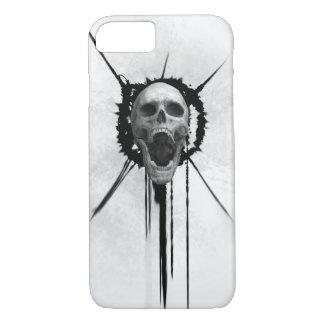 Coque iphone (blanc) criard de crâne