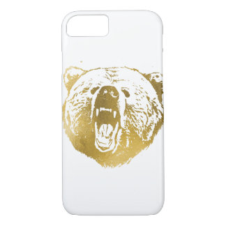 Coque iphone, blanc et or d'or d'ours