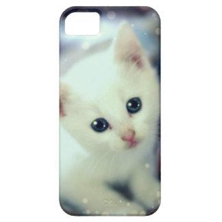 Coque iphone blanc mignon de chaton étuis iPhone 5