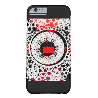 Coque iphone blanc noir rouge de motif coque barely there iPhone 6