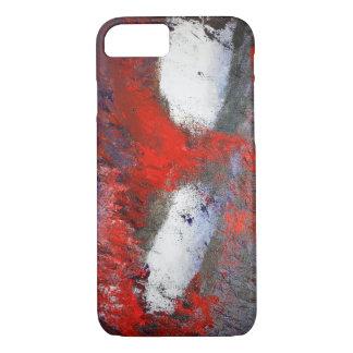 Coque iphone blanc rouge d'abrégé sur gris
