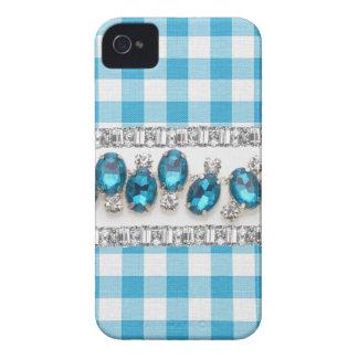 COQUE IPHONE bleu de contrôle, de fausse pierre et Coque iPhone 4 Case-Mate