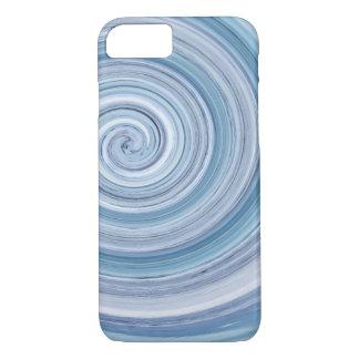 Coque iphone bleu en spirale d'Apple