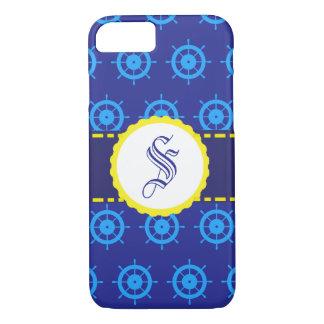 Coque iphone bleu nautique personnalisable de