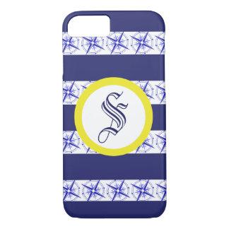 Coque iphone bleu personnalisable de boussole de