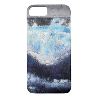 Coque iphone bleu simple de vague