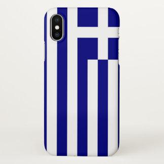 Coque iphone brillant avec le drapeau de la Grèce
