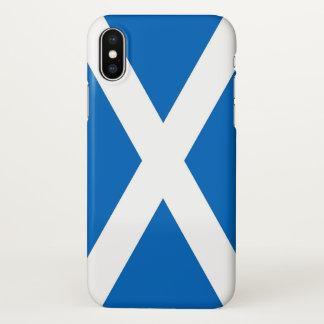 Coque iphone brillant avec le drapeau de l'Ecosse