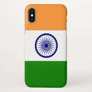 Coque iphone brillant avec le drapeau de l'Inde