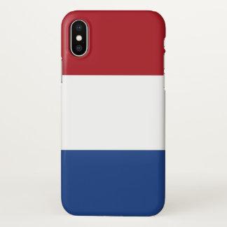 Coque iphone brillant avec le drapeau de Pays-Bas