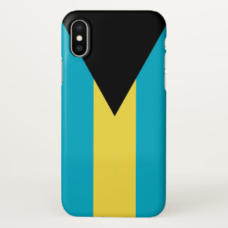 Coque iphone brillant avec le drapeau des Bahamas