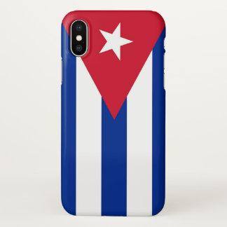Coque iphone brillant avec le drapeau du Cuba