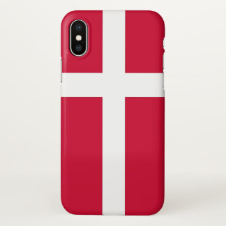 Coque iphone brillant avec le drapeau du Danemark