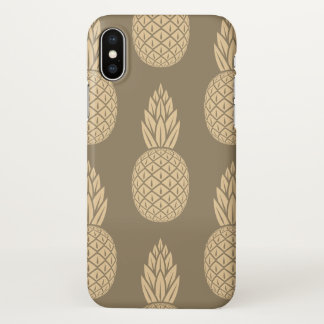 Coque iphone brillant d'ananas de sépia