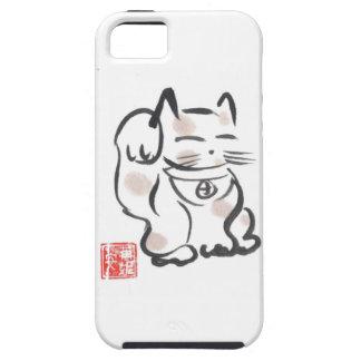 Coque iphone chanceux de chat étui iPhone 5