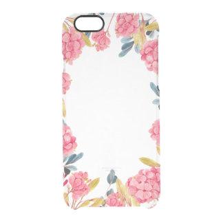 coque iphone clair lunatique floral d'aquarelle