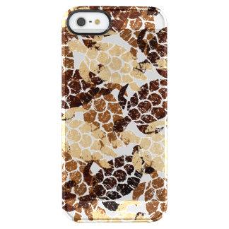 Coque iPhone Clear SE/5/5s Bois de Faux de Hawaïen de tortue de mer de Honu