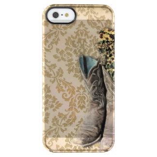 Coque iPhone Clear SE/5/5s Bottes de cowboy de pays occidental de fleur