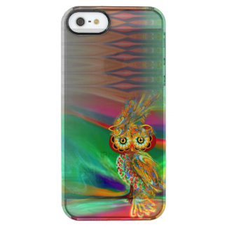 Coque iPhone Clear SE/5/5s Hibou tropical de la Reine de mode