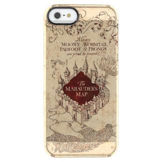 Coque iPhone Clear SE/5/5s La carte du maraudeur du charme | de Harry Potter