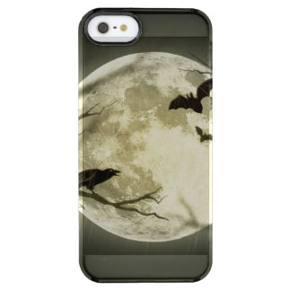 Coque iPhone Clear SE/5/5s Lune de Halloween - illustration de pleine lune