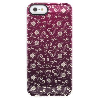 Coque iPhone Clear SE/5/5s Motif ornemental rouge