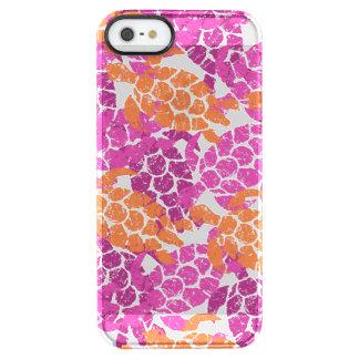 Coque iPhone Clear SE/5/5s Rose de Hawaïen de tortue de mer de Honu Aloha -